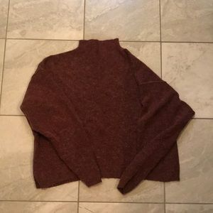 Oversized Free People mock neck sweater